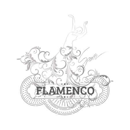 flamenco dancer Illustration