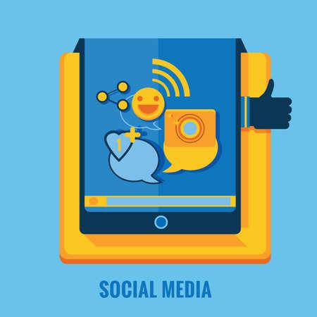 following: social media Illustration
