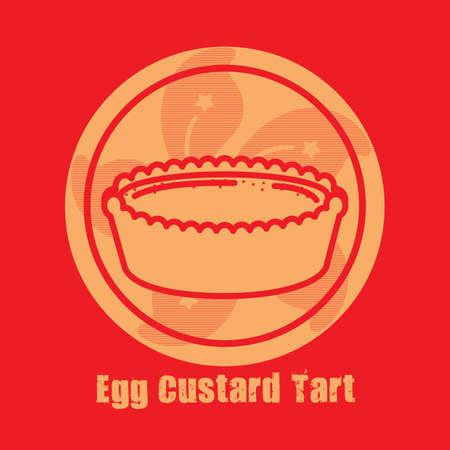 custard: egg custard tart
