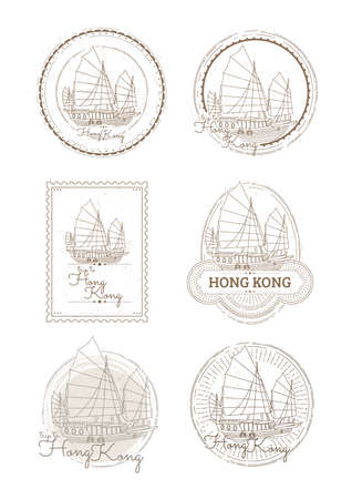 junk boat: junk boat collection Illustration