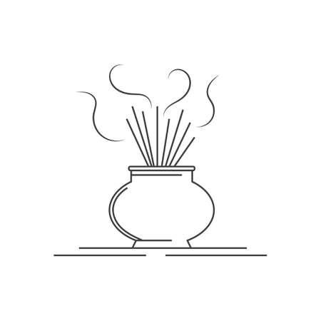 smell of burning: incense burner