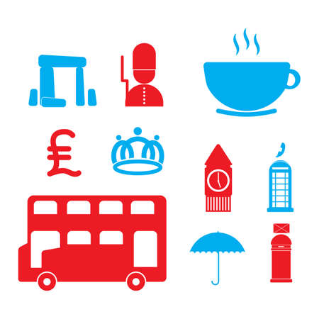 of the united kingdom: set of united kingdom icons