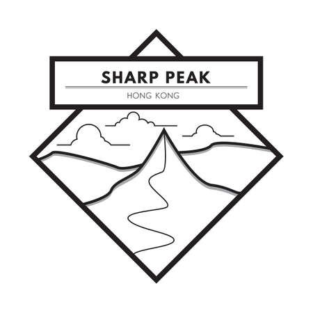 sharp: sharp peak