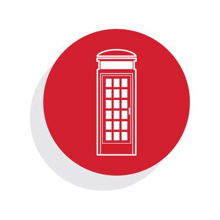 phonebox: telephone box Illustration