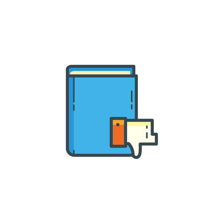 thumbs down: book with thumbs down icon