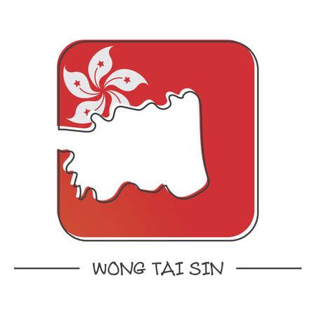 tai: map of wong tai sin Illustration