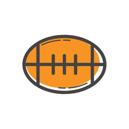 An american football illustration.