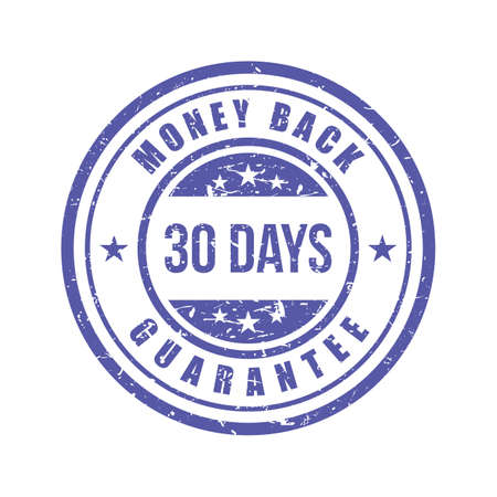 money back guarantee label Illustration