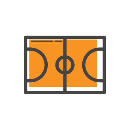 sideline: basketball field Illustration