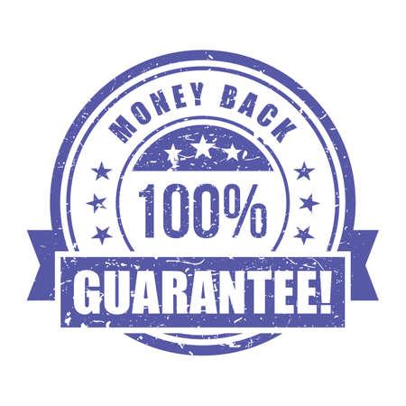 money back guarantee label Illusztráció