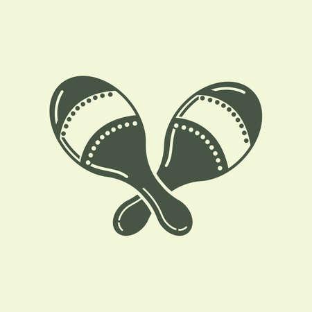 rattles: maracas Illustration