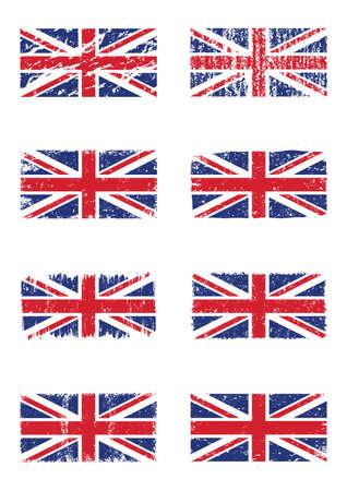 united kingdom: set of united kingdom flags