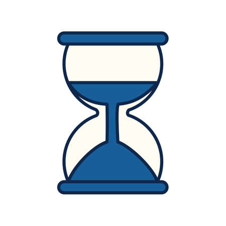 A hourglass illustration. Иллюстрация