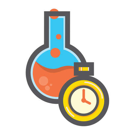 Boiling flask and timer