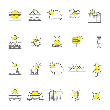 colección sol iconos
