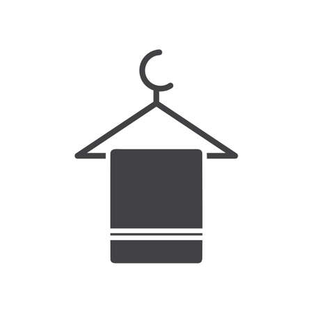 towel on hanger Illustration