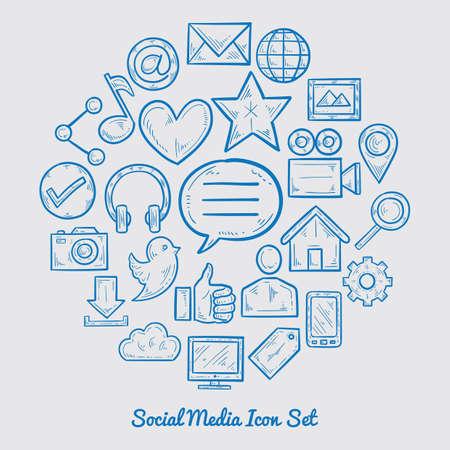 소셜 미디어 아이콘 세트