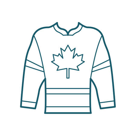 Hockey jersey Stock Illustratie