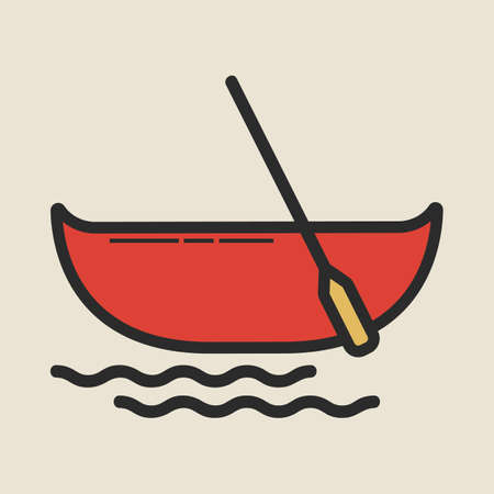 canoe Illustration
