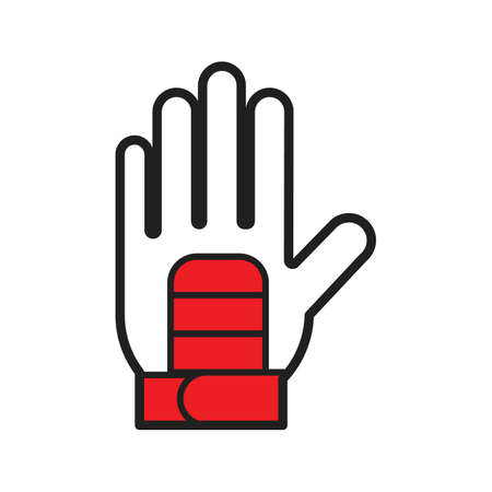 A glove illustration. 向量圖像