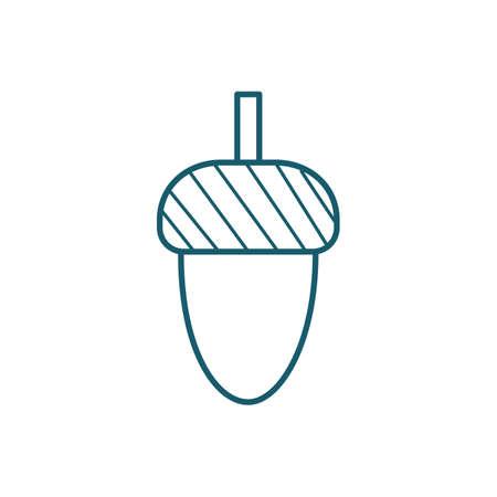 Une illustration de gland. Banque d'images - 81483978