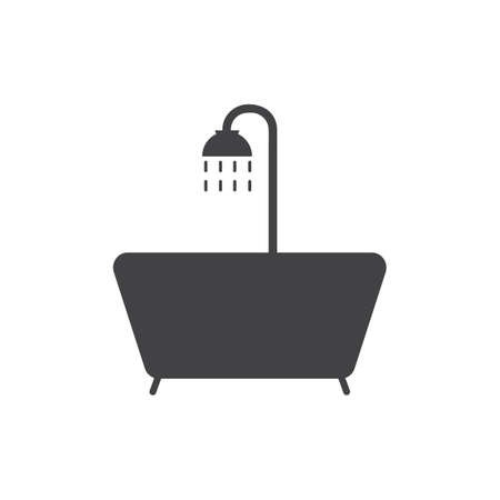 bathtub and shower Illustration