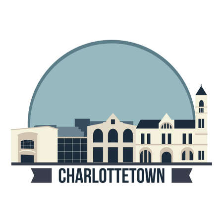 Charlottetown city hall Ilustrace