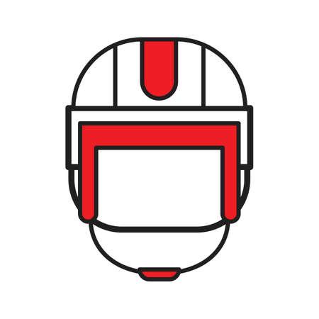 A hockey helmet illustration.