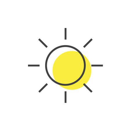 A simple sun illustration.