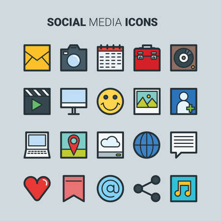 favourite: social media icons set