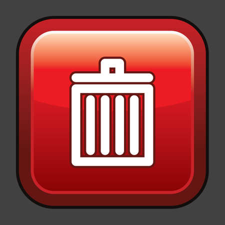 A trash bin icon illustration.