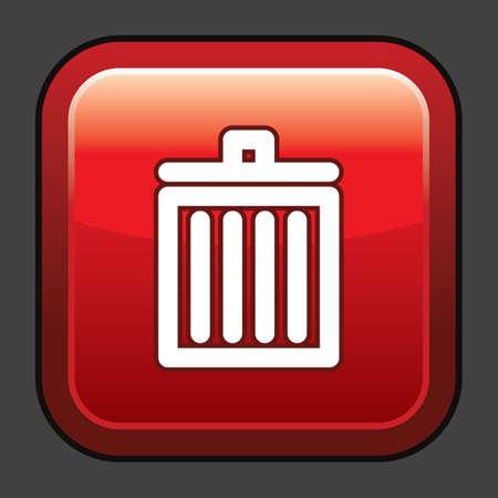 A trash bin icon illustration.