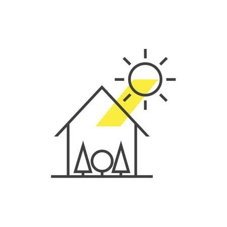sun with house