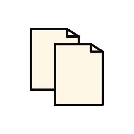 Een document papieren illustratie.