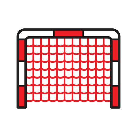 A hockey goal illustration.