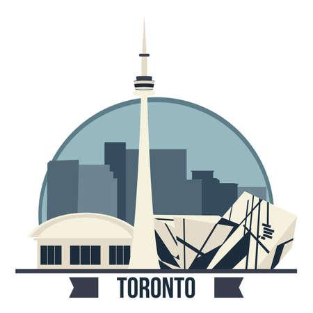 カナダ タワーの図。  イラスト・ベクター素材