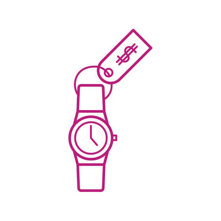 watch with price tag Ilustrace