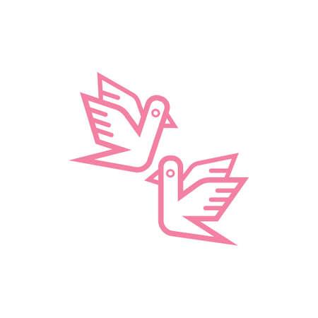pigeons flying