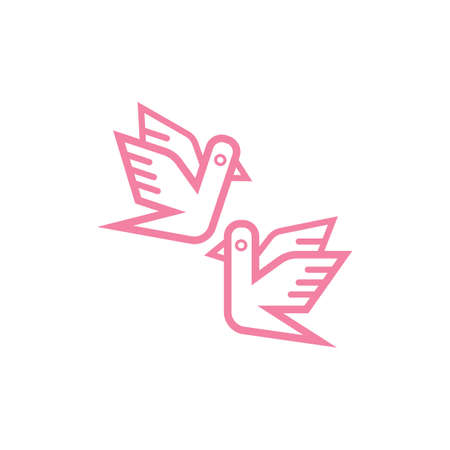 pigeons qui volent
