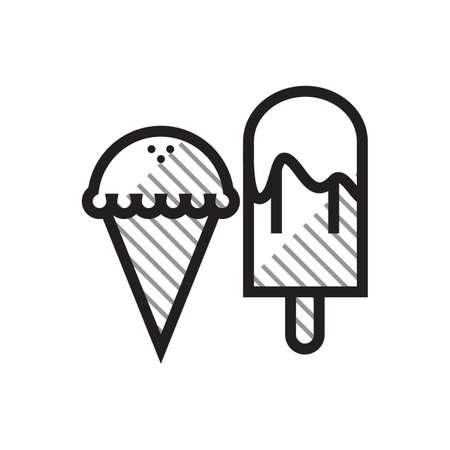 Ice cream bar and ice cream cone Illusztráció