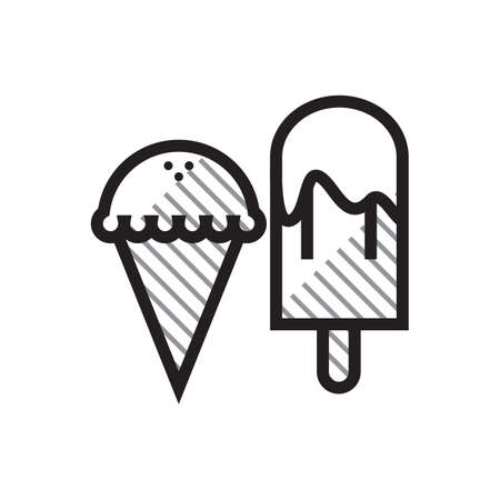 Ice cream bar and ice cream cone Illustration