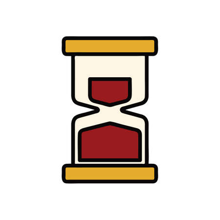 A hourglass Illustration. Illustration
