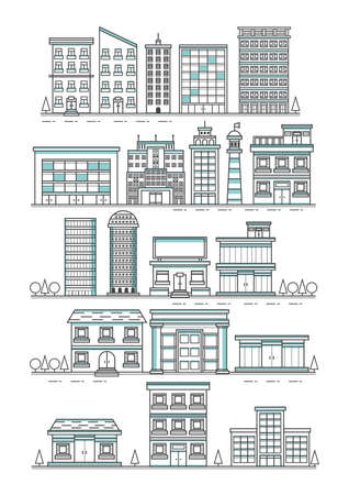 Set of buildings Illustration
