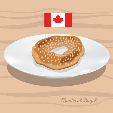 モントリオールのベーグル  イラスト・ベクター素材