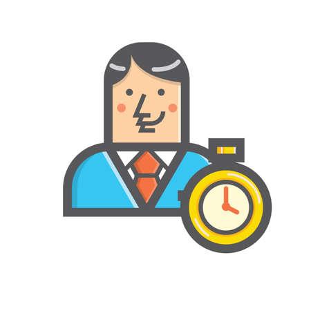 実業家とタイマー  イラスト・ベクター素材