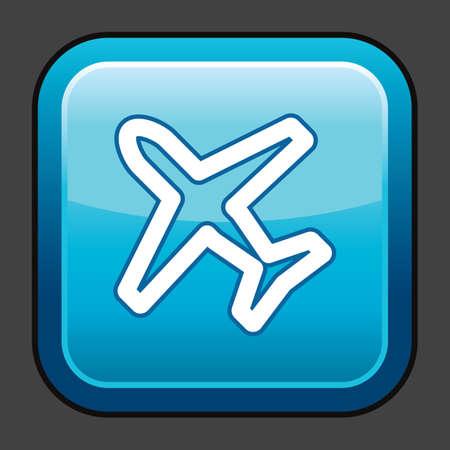 飛行機モード アイコン  イラスト・ベクター素材