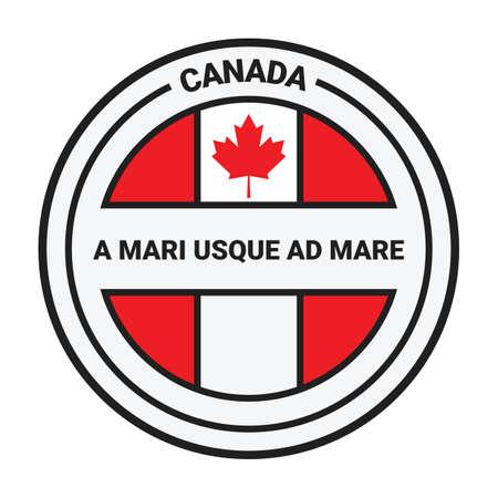 canada label Reklamní fotografie - 81534936