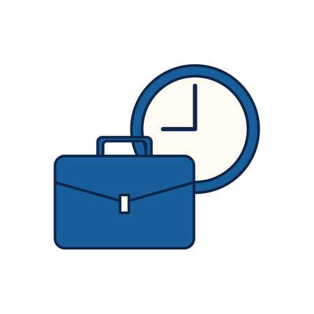 서류 가방과 시계
