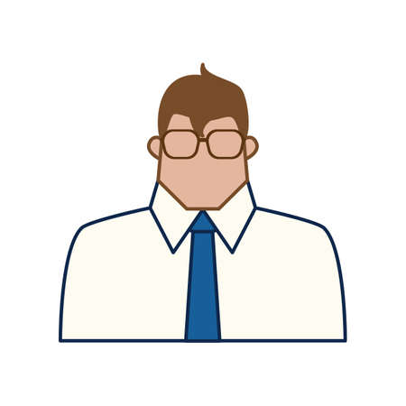 A businessman illustration. Ilustração
