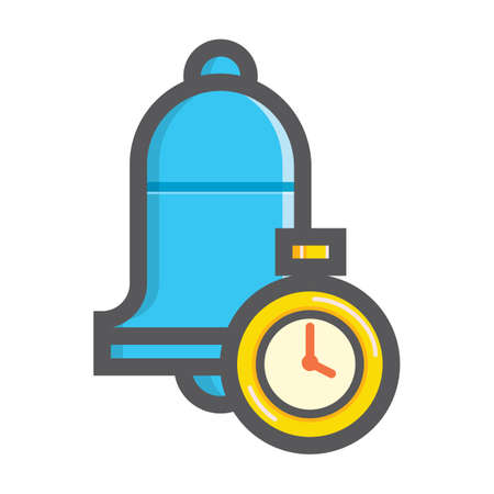 bell and timer Ilustrace